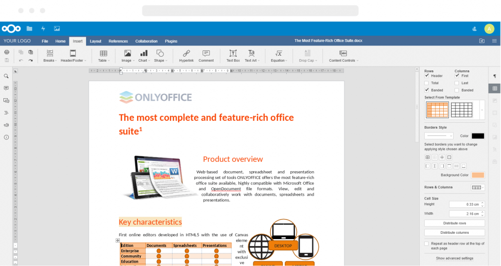 onlyoffice in browser