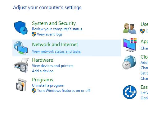 panel sterowania windows serwer