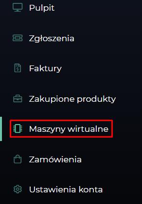 maszyny menu
