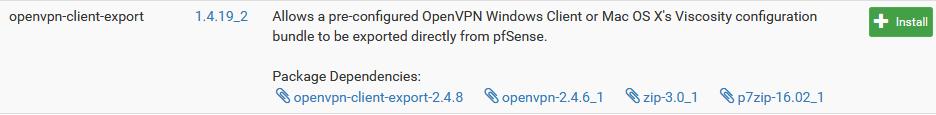 pakiet exportu openvpn