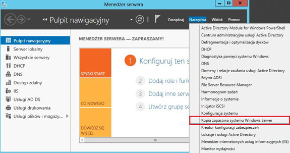 kopia systemu windows server