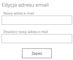 edycja adresu formularz