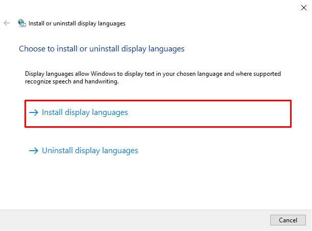 install dispaly language
