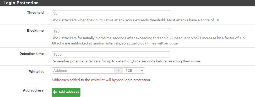 login protection